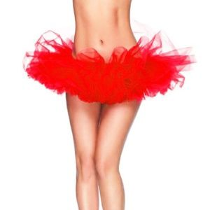 Dresses & Skirts - Adult Red Dance Organza Tutu Skirt One Size